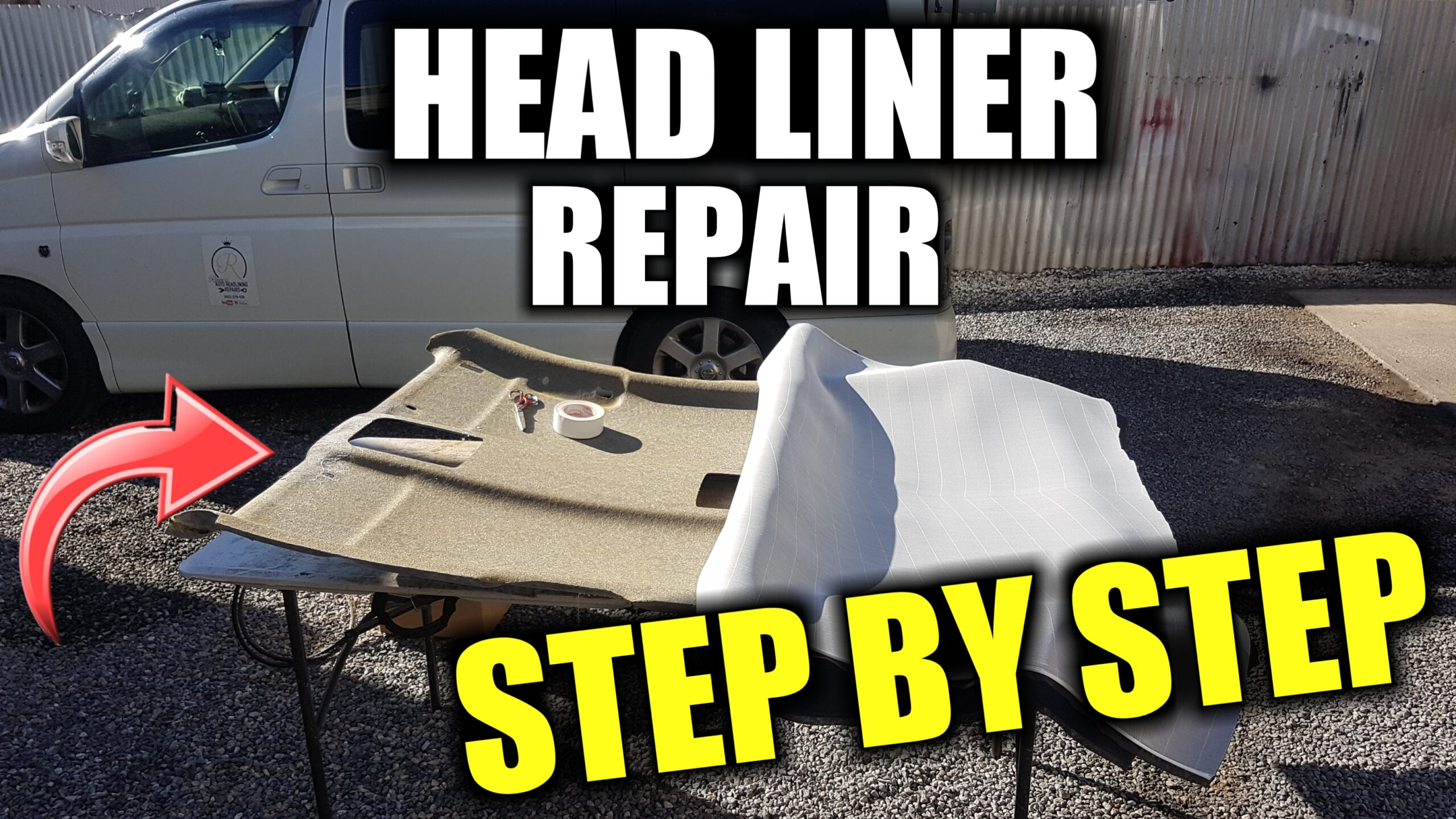 how to reattach a headliner