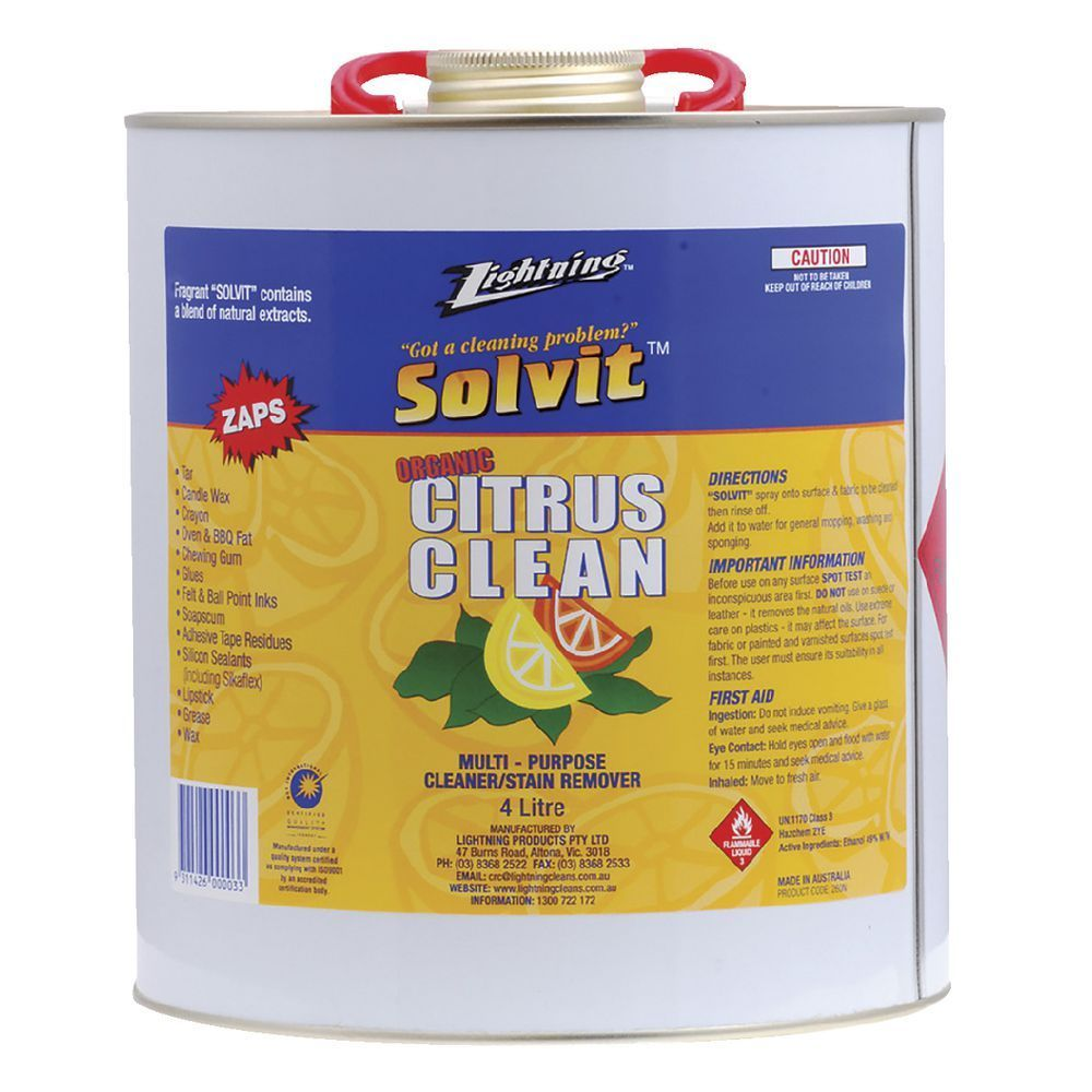 Solvit Citrus Clean Multipurpose Spray 4l Reeces Auto